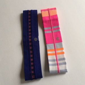 Two Lululemon Headbands